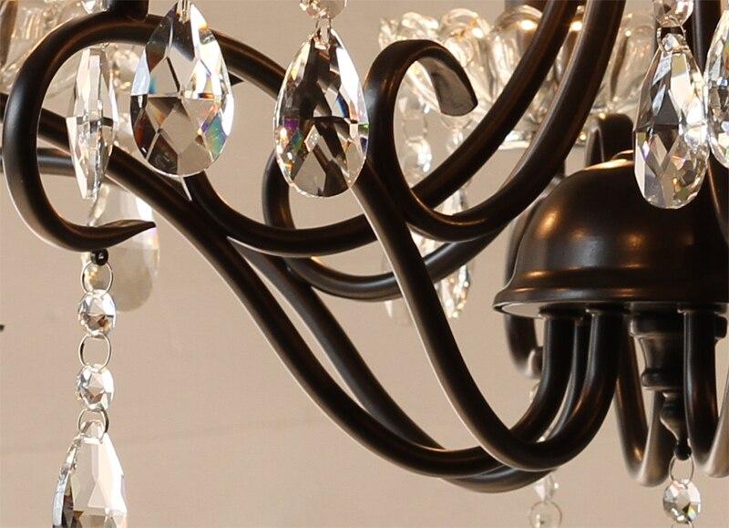 Led E14 Kerze Kronleuchter ~ Art deco europäischen kerze kristall moderne led kristall