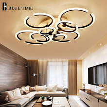 купить Dimmable Remote Control Led Ceiling Lights Black&White Modern Led Ceiling Lamp For Living room Bedroom Dining room Acrylic Lamps дешево