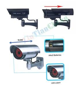 Image 5 - Fake Dummy CCTV Camera Bullet Waterdichte Outdoor Indoor Beveiliging Surveillance Camera Solar Met Led Licht Gratis Verzending