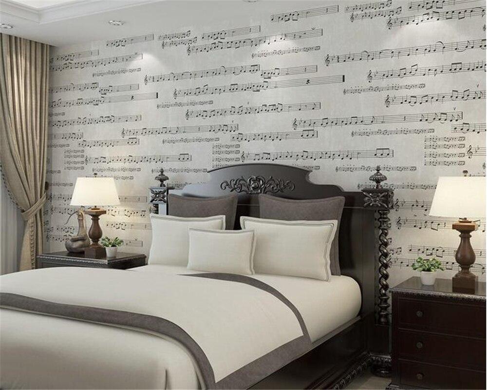 Behang Met Patroon : Beibehang amerikaanse retro slaapkamer behang persoonlijkheid