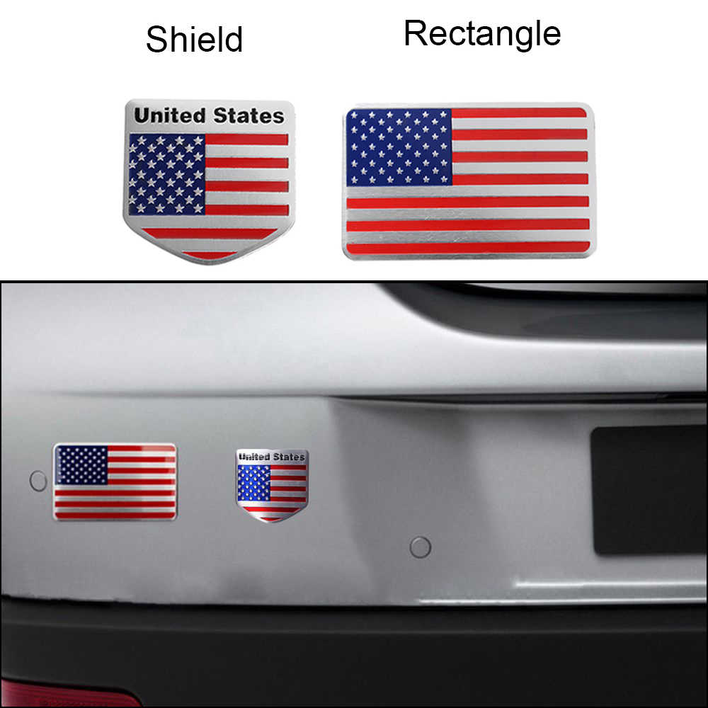 Us flag 3d car sticker auto decor decal badge emblem adhesive car styling sticker for jeep