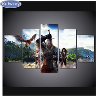 5 Pcs Witcher 3 Full Square 5D DIY Diamond Painting Mosaic Rhinestone Painting Cross Stitch Kit