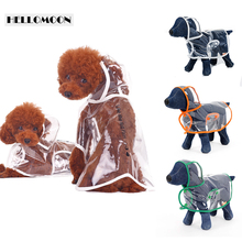 HELLOMOON transparent raincoat spring and summer like the rain puppy poncho hooded dog