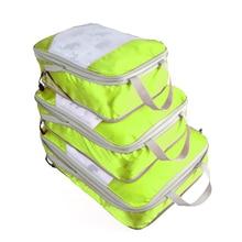 QINYIN Travel Hand Clothing  Bolsa De Viaje 3Pcs/set Nylon Travel Bag Packing Cubes Set Organizer Luggage Bags Large Capacity