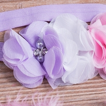 Newborn Baby Girls Pink Feather Angel Wing +Flower Headband Photography Prop