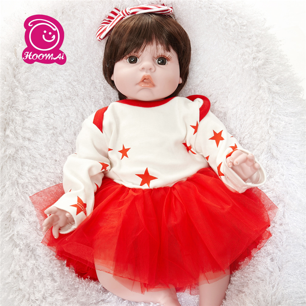 55cm Soft Eco- Friendly PP Cotton Body Doll Reborn Baby 22 Toy For Girls Birthday Gift For Child Educational Kids Toys55cm Soft Eco- Friendly PP Cotton Body Doll Reborn Baby 22 Toy For Girls Birthday Gift For Child Educational Kids Toys
