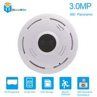3MP IP Camera Panoramic 3D HD Full VR 360 Degree IR Wifi Wireless P2P CCTV Home