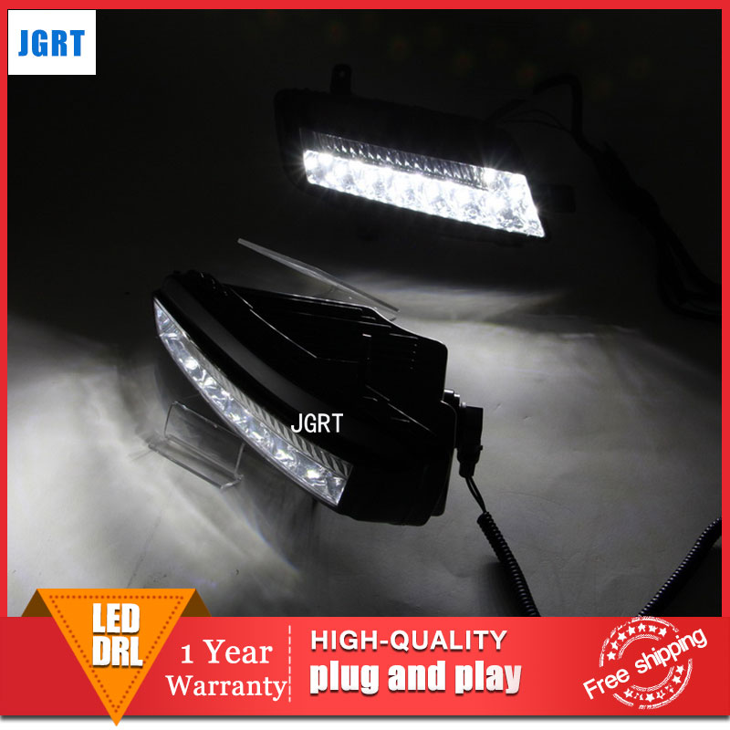 car styling 2013-2014 For VW golf 7 LED DRL For golf 7 led fog lamps daytime running light High brightness guide LED DRL dongzhen fit for 92 98 vw golf jetta mk3 drl daytime running light 8000k auto led car lamp fog light bumper grille car styling