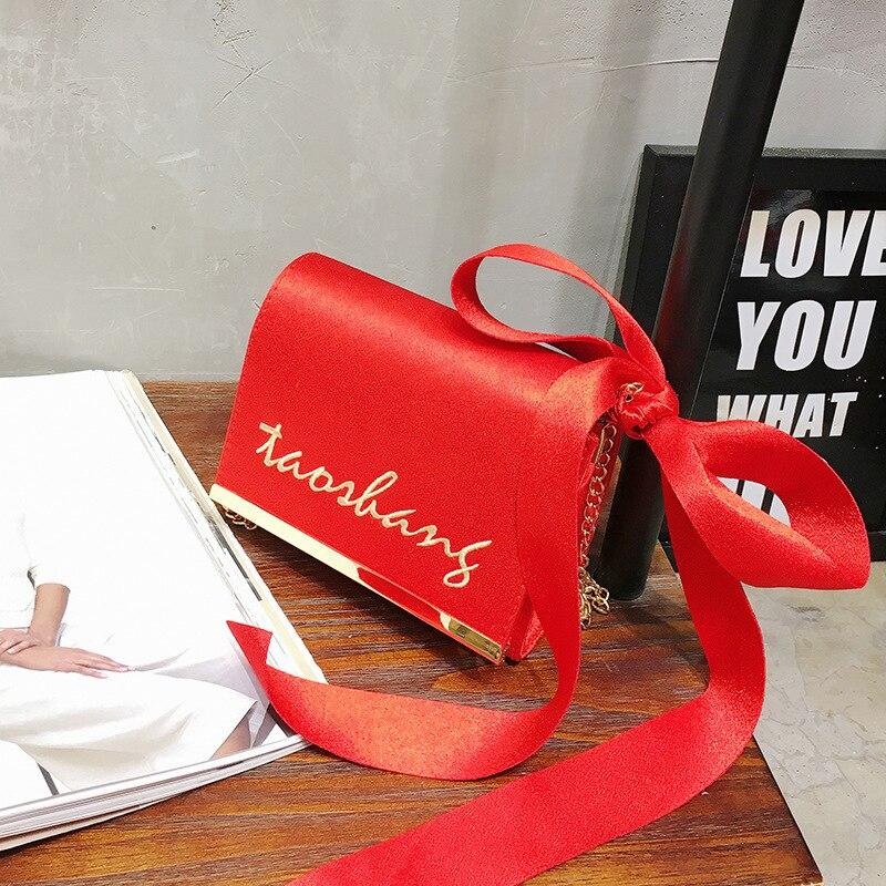 Южная Корея небольшой пакет <font><b>2017</b></font> Новый мини цепи замши лук шарф универсальная сумка кошелек мешок мобильного телефона леди;