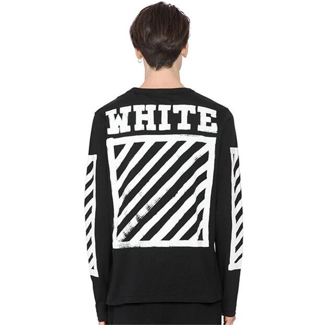 Off White Long Sleeve T shirt C/o Virgil Abloh Men Women Cotton T ...