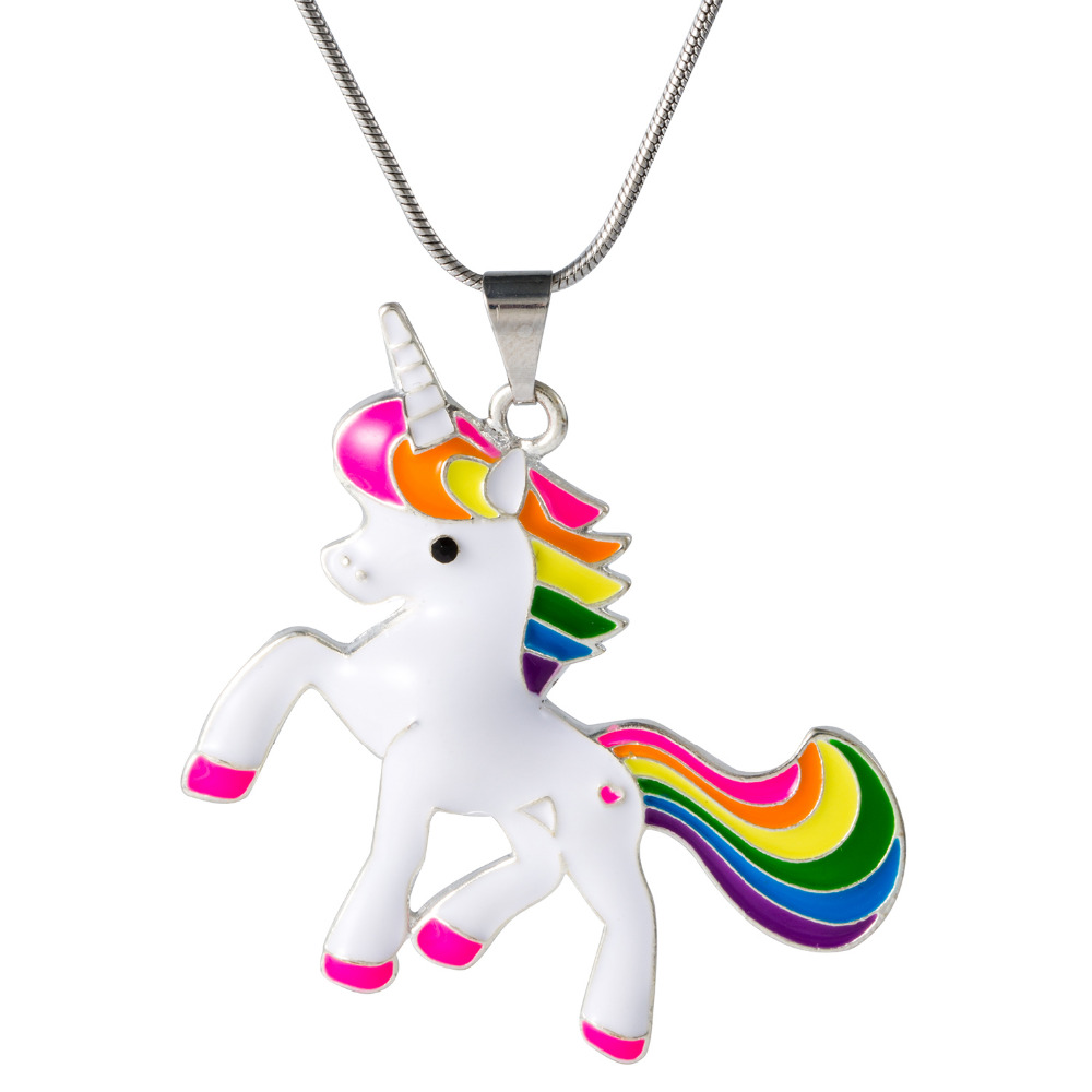 charm dipped gold pendant on dogeared chain card unicorn is life reads magical necklace