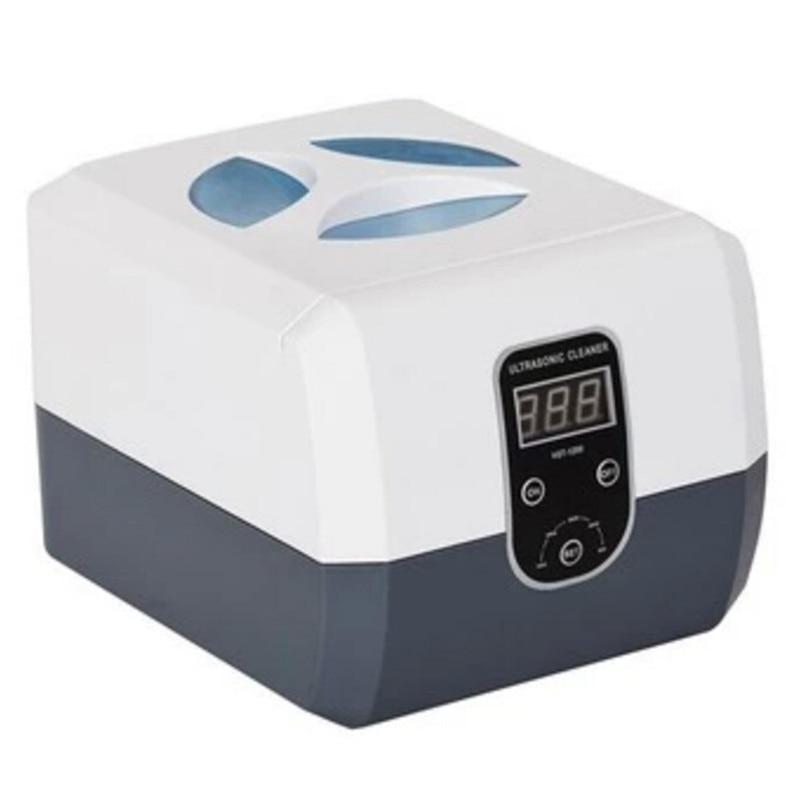 ФОТО Tattoo  Sterilization Supply 1PCS 60W Mini Ultrasonic Dental Cleaner 1.3L For  Jewelry Watch Glasses Filter Injector Vgt-1200H