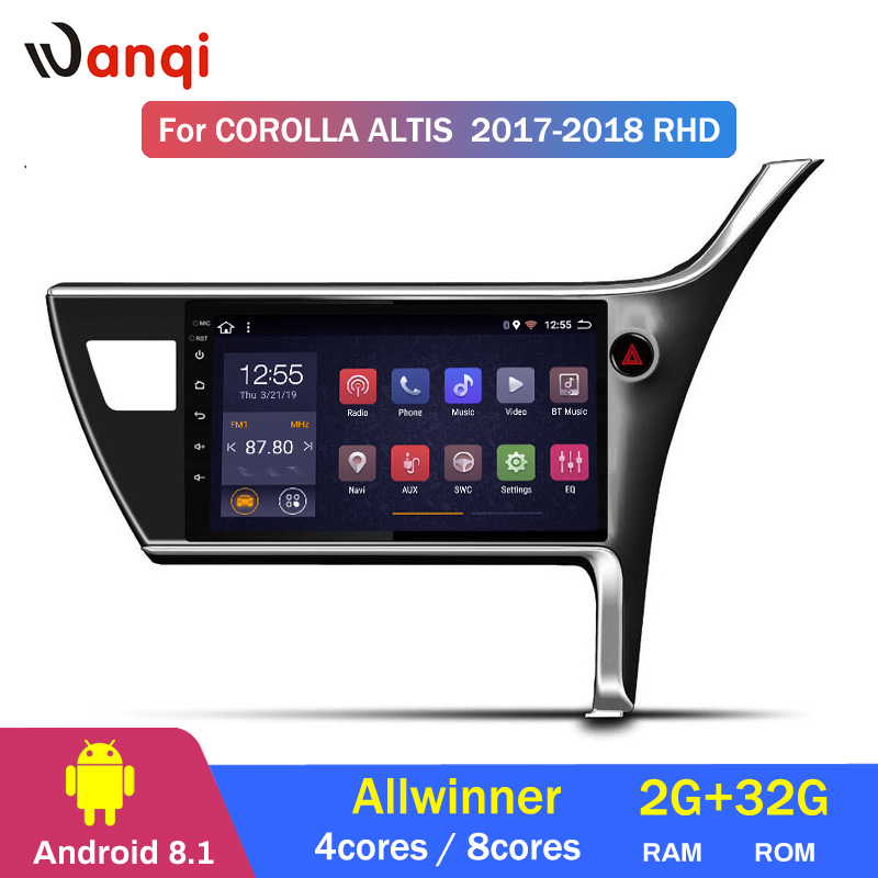 2G RAM 32G ROM 10.1 inch Android 8.1 <font><b>Car</b></font> GPS for <font><b>Toyota</b></font> corolla 2017-2018 right hand <font><b>drive</b></font> Navigation System image