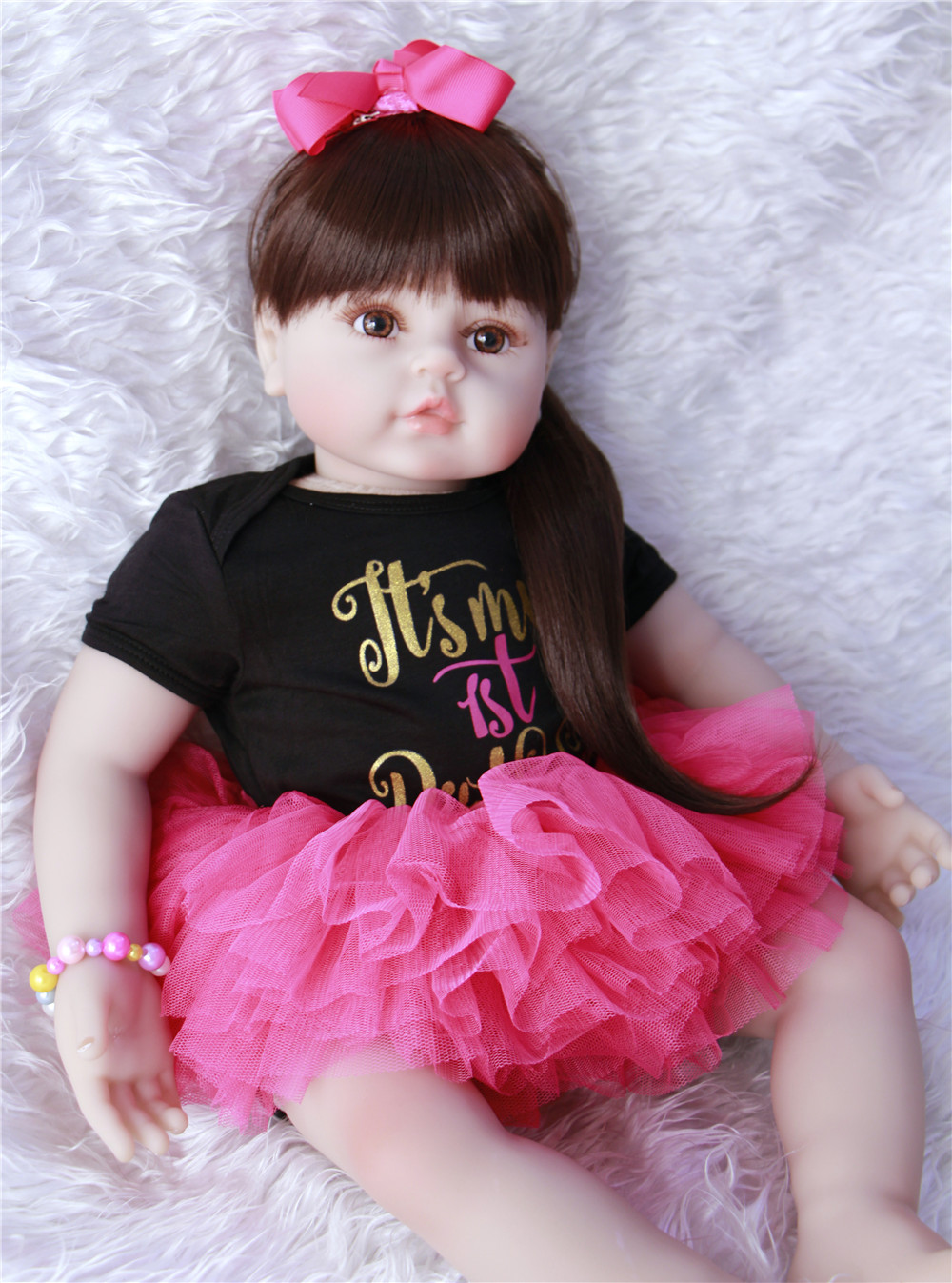 58cm High-end vinyl silicone reborn baby doll toy newborn girl babies princess doll birthday holiday gift bedtime play house toy58cm High-end vinyl silicone reborn baby doll toy newborn girl babies princess doll birthday holiday gift bedtime play house toy