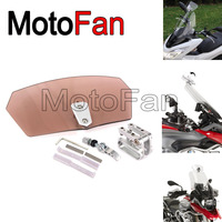 Universal Motorcycle Windshield Windscreen Screen Extension Spoiler Wind Deflector Clip On Adjustable For Suzuki Kawasaki Ducati
