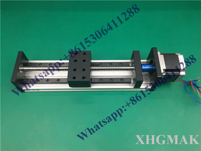 High Precision GX80*50 Ballscrew 1204 700mm Effective Travel+ Nema 23 Stepper Motor CNC Stage Linear Motion Moulde Linear high precision gx80 50 ballscrew 1204 1300mm effective travel nema 23 stepper motor cnc stage linear motion moulde linear