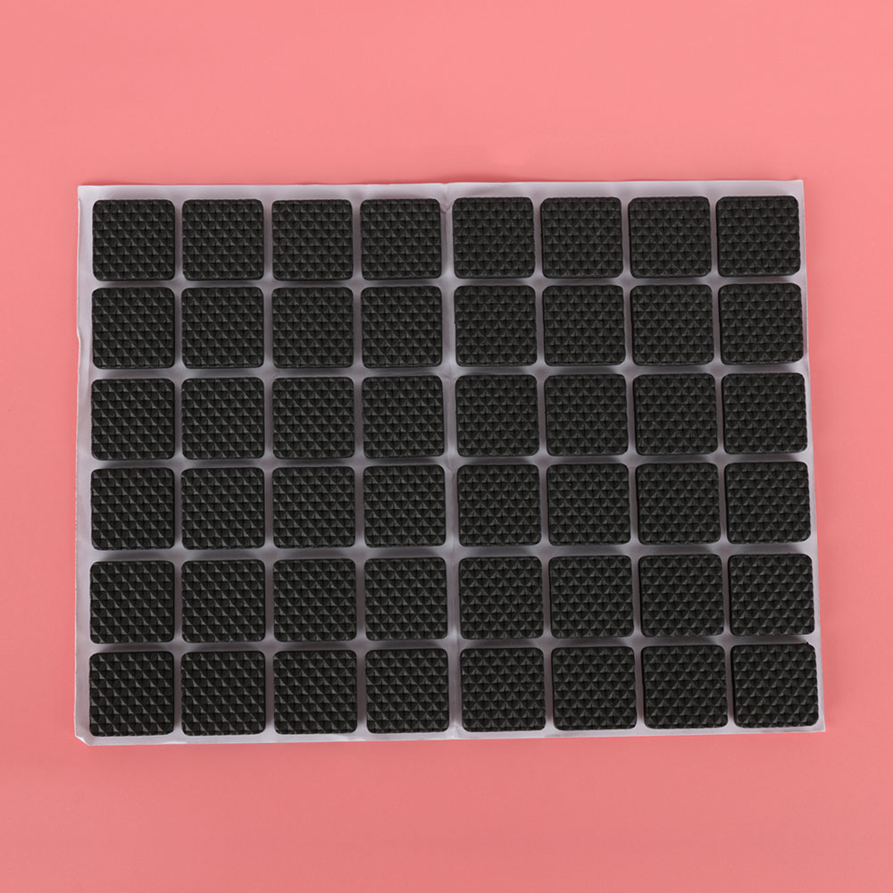48pcs Non Slip Self Adhesive Furniture Rubber Feet Pads Table Chair Floor Protectors Mat Round Sticky Pad For Sofa Leg