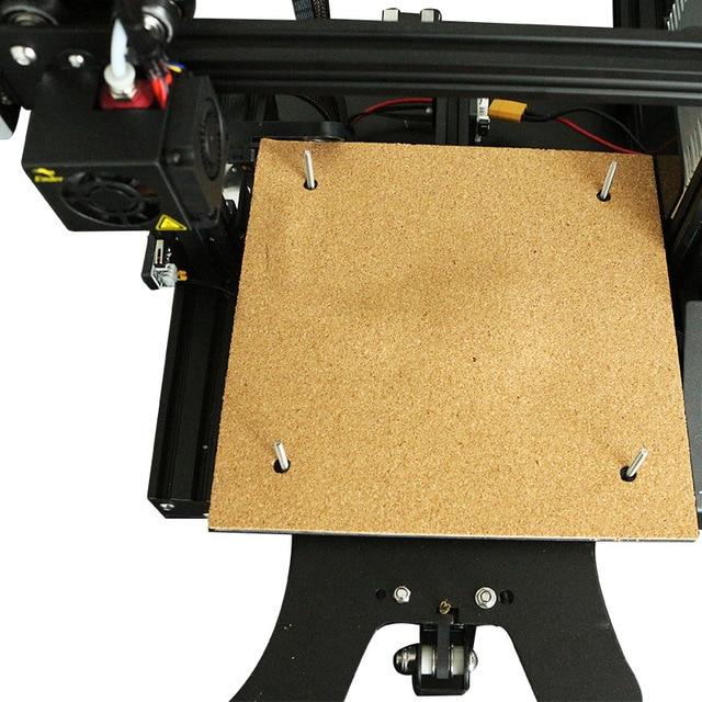 Ender-3 * 235*235mm 310*310 MM CR-10 aislante de goma de algodón cama de calor de temperamento cinta adhesiva para aislamiento de la boquilla de la impresora 3D