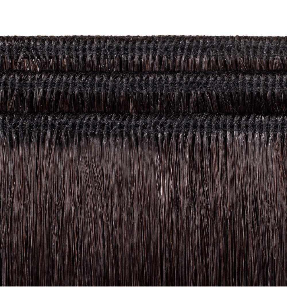 VL Kahverengi Saç Örgü % 100% Remy saç ekleme düz insan saçı Demetleri Ile Tek Parça Ücretsiz Kargo #4 Profesyonel Salon Için