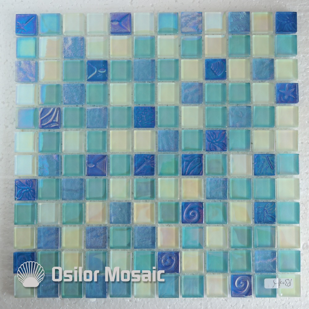 Free shipping mediterranean sea style glass crystal mosaic tile for interior house decoration wall tile for free shipping 323 sea fuxing 2 glass doors lifter qianmen elevator machine