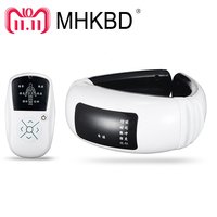 MHKBD Neck Massager Cervical Remote Control Electric Pulse Vertebra Body Massage Physiotherapeutic Acupuncture Magnetic Therapy