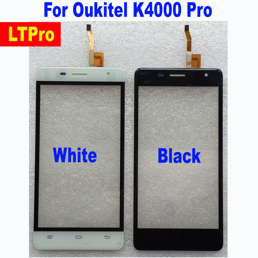 LTPro High Quality Original Working TP Glass Panel Touch Screen Digitizer For Oukitel K4000 Pro Sensor Phone Parts Replacement