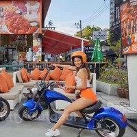 Spor ve Eğlence'ten Elektrikli Scooterlar'de Citycoco EEC COC 2000W veya normal CE sürüm çıkarılabilir pil şehir scooter M1