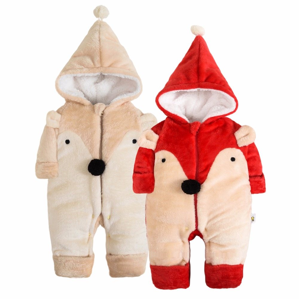 Winter Newborn Baby Clothes Flannel Baby Boy Clothes Cartoon Animal Jumpsuit Baby Girl Rompers Baby Clothing Pajamas winter autumn fall baby clothes flannel baby boy clothes cartoon animal jumpsuit baby girl rompers long sleeves covered button