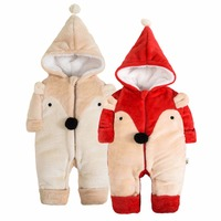 Winter Newborn Baby Clothes Flannel Baby Boy Clothes Cartoon Animal Jumpsuit Baby Girl Rompers Baby Clothing