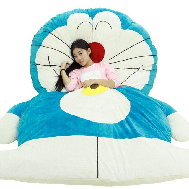 Cute Cartoon Doraemon Plush Bed Lovely Blue Fat Cat Beanbag Leisure Mattress Tatami Mats Sleeping Bag 220x170cm Dy50465