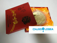 new arriving the year of dog 2018 1kg 1000g gold plated commemorative coin with box for home dec or Christmas gift