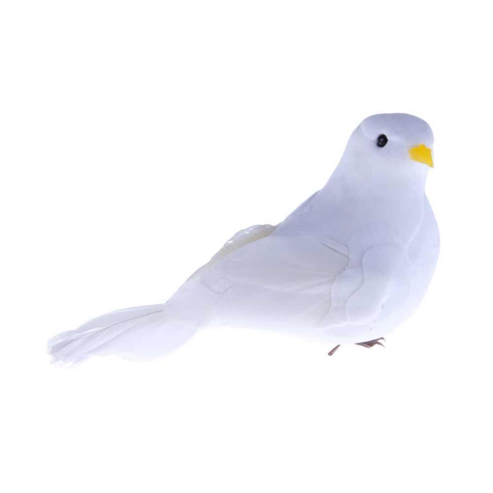 1 ชิ้นตกแต่งงานแต่งงานนกพิราบโฟมประดิษฐ์ Feather มินิสีขาวนกหัตถกรรมนกตกแต่งงานแต่งงานบ้านเครื่องประดับ