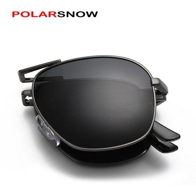 Polarsnow hombres gafas de sol new 2017 templo plegable gafas de sol polarizadas masculinas gafas de sol de calidad superior para los hombres diseñador de la marca