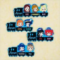 fe94eeea9206 Love Live Sunshine Aqours Anime Riko Hanamaru Mari Chika Kanan Dia Ruby  Yoshiko usted tren Ver