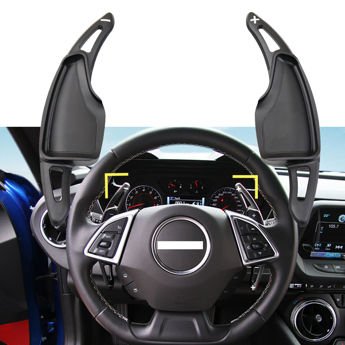 Confident Red/black/silver Inner Steering Wheel Paddle Shifters Dsg Extension Aluminium Alloy For Chevrolet Camaro 2016-2018 Car Styling Automobiles & Motorcycles Interior Mouldings