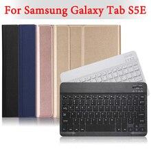 """BOZHUORUI לסמסונג גלקסי Tab S5E 10.5 """"tablet SM T720 SM T725 נשלף אלחוטי Bluetooth מקלדת עור מפוצל כיסוי מקרה"""