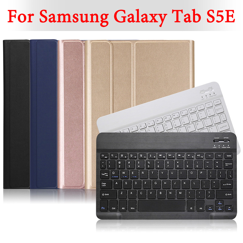 BOZHUORUI for Samsung Galaxy Tab S5E 10.5 tablet SM T720 SM T725  Removable Wireless Bluetooth Keyboard PU leather cover caseTablets