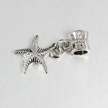 free shipping 1pc european starfish haning bead charms fit style bracelet PCW003(China)
