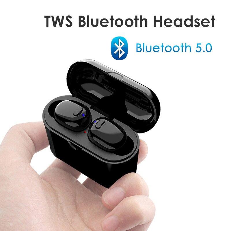 Petit Sans Fil Casque Mini Bluetooth Écouteurs Stéréo Écouteurs Mains Libres Bluetooth Casque avec Micro pour iPhone Xiaomi Samsung
