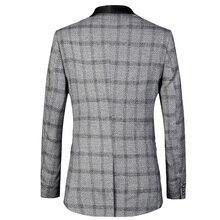 Luxury brand Men Jacket Slim Fit 2018 New Male Banquet Suits Jackets Plus Euro size 58 Tuxedo Wedding Suit plaid Blazer