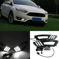 1pair DRL LED Daytime Running Light Fog Lamp For Ford Focus 2015 6000K Super White DXY88