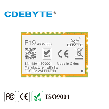 E19-433M30S Lora Long Range SPI SX1278 433 MHz 1W Stamp Hole Antenna IoT uhf Wireless Transceiver Transmitter Receiver Module cc1310 module 433mhz 1w smd wireless transceiver e70 433nw30s iot 433 mhz ipex antenna transmitter and receiver