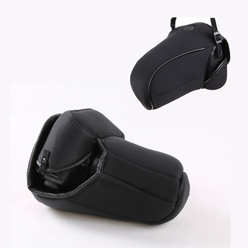 portable Neoprene Camera <font><b>Cover</b></font> Case for <font><b>Canon</b></font> EOS <font><b>60D</b></font> 70D 80D 18-200 18-135mm 24-105mm Lens protective pouch bag image