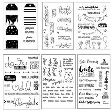 цена ZhuoAng German stamp theme Transparent and Clear Stamp DIY Scrapbooking Album Card Making DIY Decoration Making онлайн в 2017 году