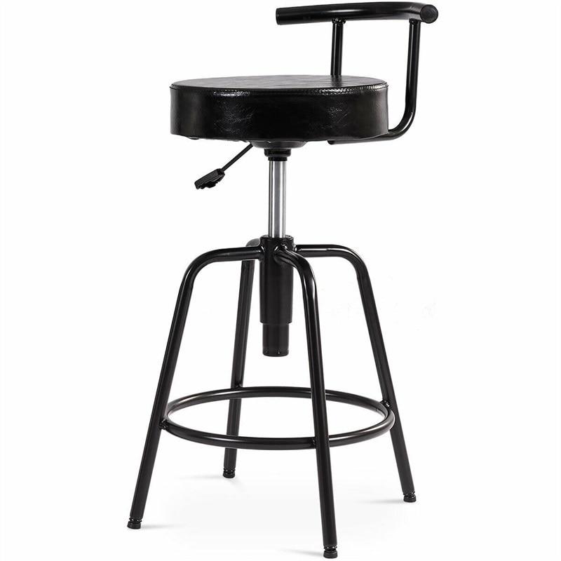 Modern Adjustable Barstools Swivel Vintage Bar Stool Chair Kithchen PU Leather Bistro Pub Furniture HW61045