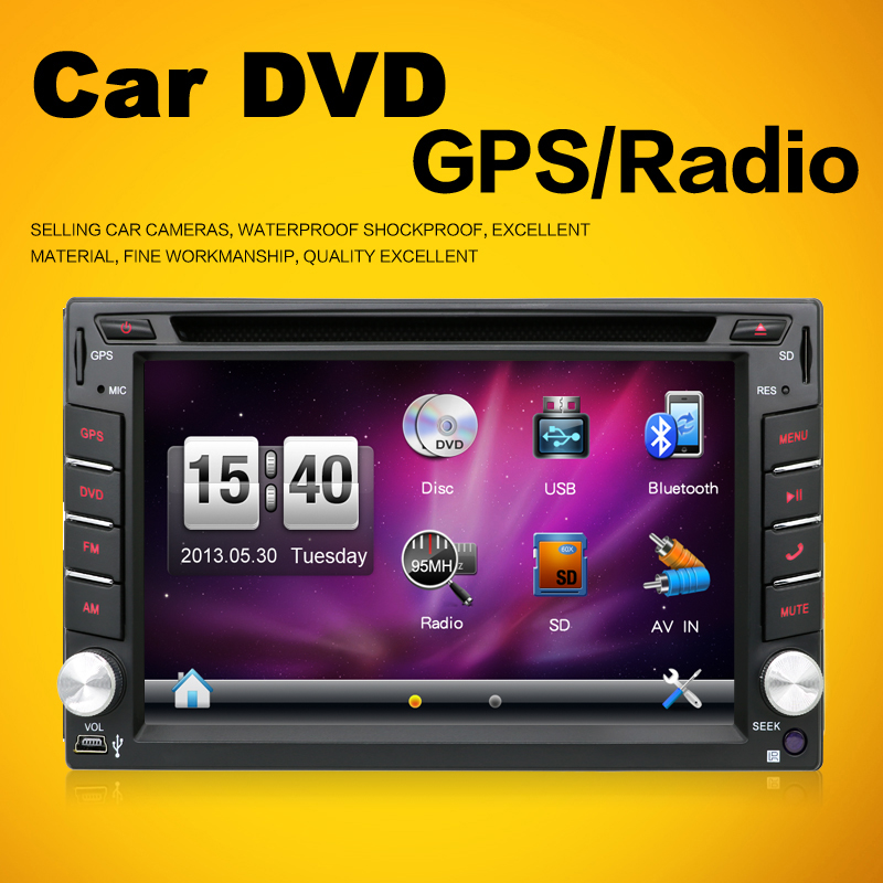 ФОТО 6.2 Inch Car DVD automotivo IN-DASH FM Transmitter With Double 2 Din Car For Universal Car Bluetooth Free MAP+Camera