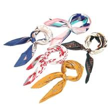 Retro small square versatile decorative organ pleated explosions hot silk exquisite fashion turban art scarf size55*55cm