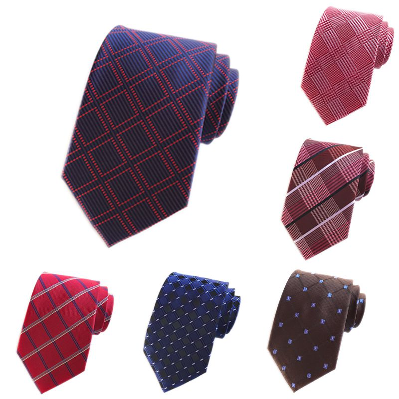 Hot Sale 9 Style Silk Plaid Ties Men 2018 Wedding Cravate Neck Tie Party Business Formal Male Ties