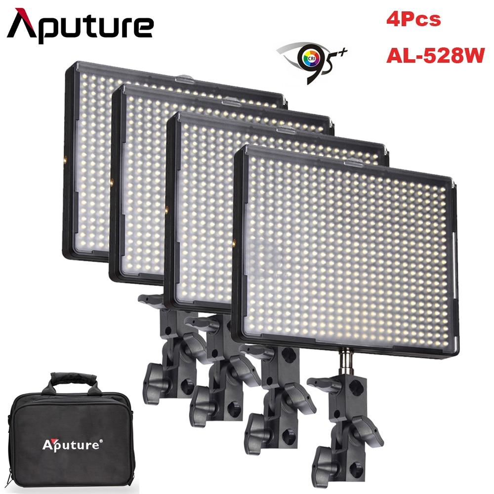 4 pcs/lot Aputure Amaran AL-528W CRI95 + 528 pcs Dimmable 3200 k/5500 k LED Vidéo Studio Panneaux Lumineux photographie pour Appareil Photo REFLEX NUMÉRIQUE