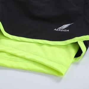 Image 4 - Мужские шорты для марафона и бега 2 в 1, шорты для спортзала, шорты для спортзала, короткие спортивные велосипедные шорты с длинной подкладкой, большие размеры
